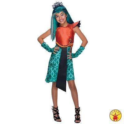Monster High Nefera De Nile Kostüm (IAL Lizenz Monster High Kostüm mit Perücke Boo York Nefera de Nile 134-140)