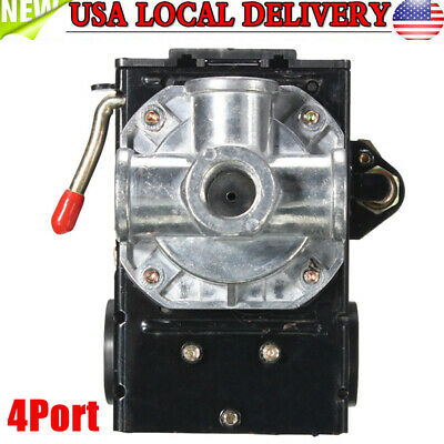 Heavy Duty 4port 26 Amp Air Compressor Pressure Switch Control Valve 95-125 Psi