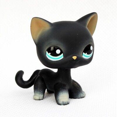 littlest pet shop toys LPS black cat #994 short hair kitty toys green eyes](Black Kitty)