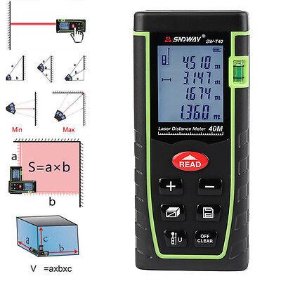 40m131ft Digital Laser Distance Meter Range Finder Measure Tape Diastimeter Xm3