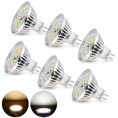 Wowatt 6x MR16 GU5.3 LED 12V Warmweiß Kaltweiß 6W Ersetzt 40W 35W Halogen Lampe  - 35w Mr16 Lampe