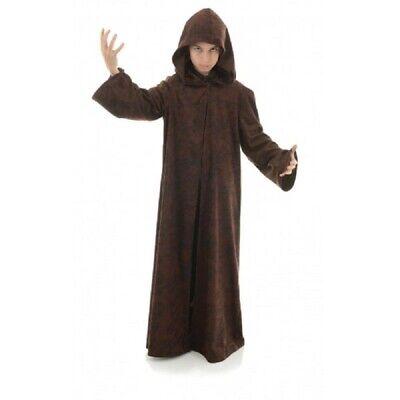 Brown Hooded Cloak Unisex Monk Jedi Wizard Child - 2 Sizes - Brown Hooded Cloak