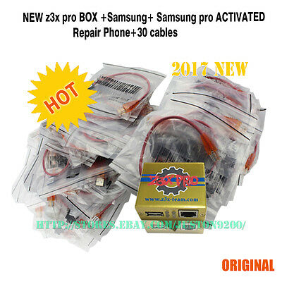 Z3X box SAMSUNG PRO ACTIVATED phone unlocker+30 cables for samsung new update