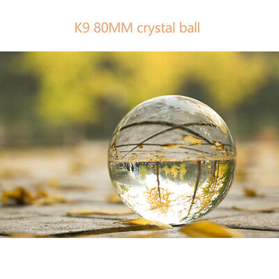 Crystal 80MM Clear Photography Sphere Decoration Lens Ball Photo Prop Lensball