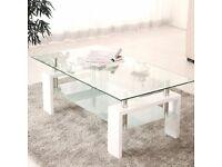 BNIB White High Gloss Coffee Table