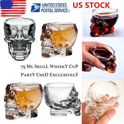 Crystal Skull Head Vodka Whiskey Shot Glass Cup Drinking Ware Home Mug Barware