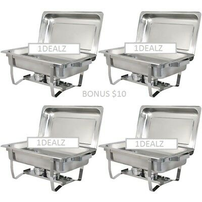 4 Pack Catering Chafers Stainless Steel 95.00 Less Than 20 Each Shipping Fast
