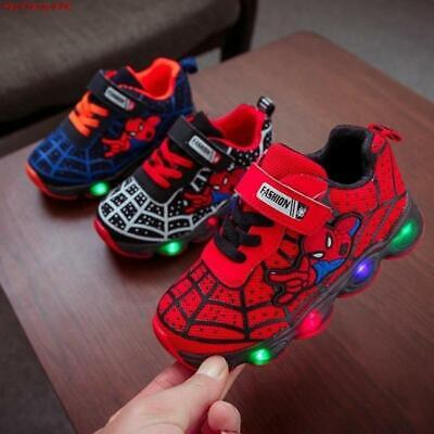 New Spider-Man Children's Shoelaces With Light Laces Children's Boys Led Shoes S