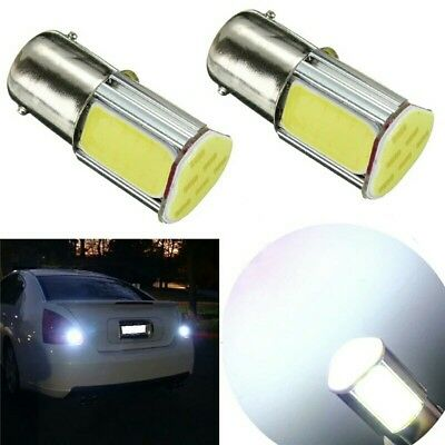 2 X 1156 BA15S COB BRIGHT WHITE 5W LED 382 P21W BRAKE STOP TAIL LIGHT BULBS 12V
