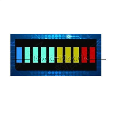 2pcs 10 Segment Led Bargraph Light Display Red Yellow Green Blue New