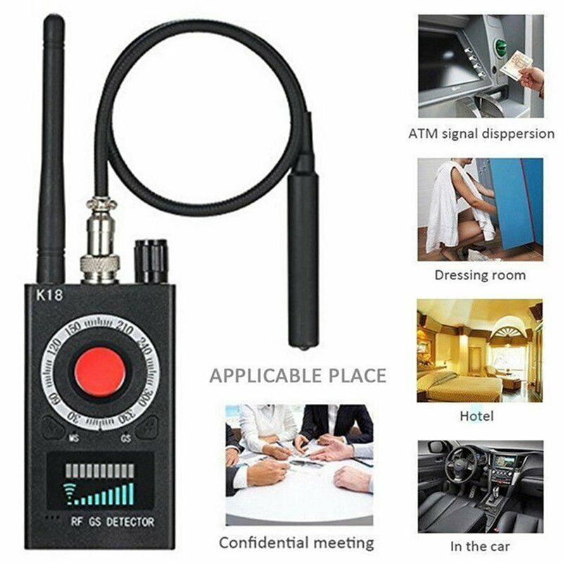 RF K18 Signal Detector Anti AntiPositioning Camera GSM Audio Bug Finder GPS
