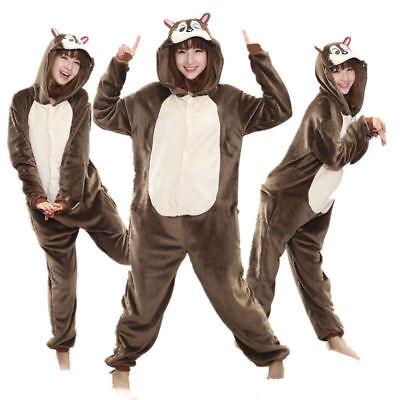 *Unisex Adult Squirrel Pajamas Animal Cosplay Costume Sleepwear Onesieo Kigurumi - Costume Squirrel