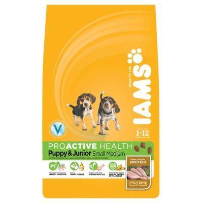 Iams Junior or Small/Medium Puppy Chicken Dog Food (1Kg)