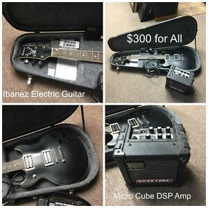 Ibanez Electric Guitar w/Case & Amp