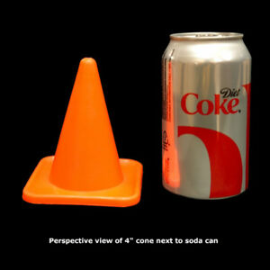 """CUUUTE 4 Inch """"Traffic"""" Cones - SO MANY USES"""