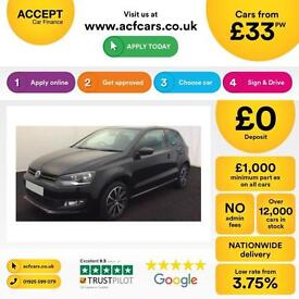 Volkswagen Polo 1.2 ( 60ps ) 2013.5MY Match Edition FROM £33 PER WEEK !