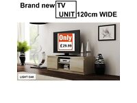 BRAND NEW TV UNIT CABINET 120cm WIDE WENGE COLOR OR SONOMA OAK&WHITE COLLECTION OR DELIVERY CHEAPEST