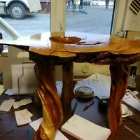 burl and diamond willow table