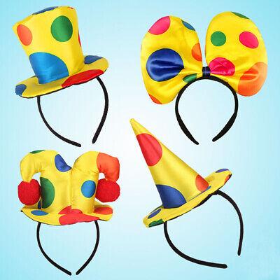 Clown Stirnband Clown Hut Haarband Schleife Bühnenauftritt Requisi - Hut Stirnband