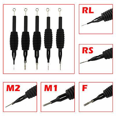 6PCS/Lot Sterile Disposable Tattoo Nozzle Needle Tips and Tube 3/4 Grip_TA110