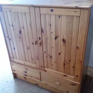 Entertainment Unit/ Armoir - Pine