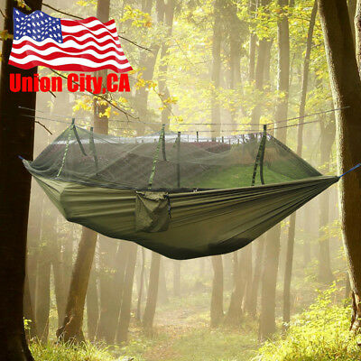 Double Hanging - Double Person Travel Outdoor Camping Tent Hanging Hammock Bed With Mosquito Net