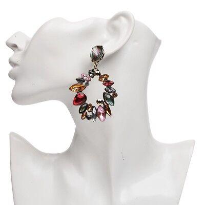 ZARA Past Season  Jewel  Earrings Colourful Rhinestone Statement  Flower Spring