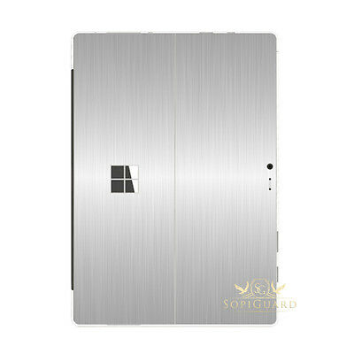 SopiGuard Brushed Aluminum Silver Skin Back Film Microsoft Surface Pro 4