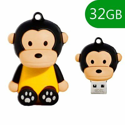 MEMORIA USB PENDRIVE USB FLASH 32GB DIBUJOS TEMATICO 3D MONO ANIMALES LAPIZ