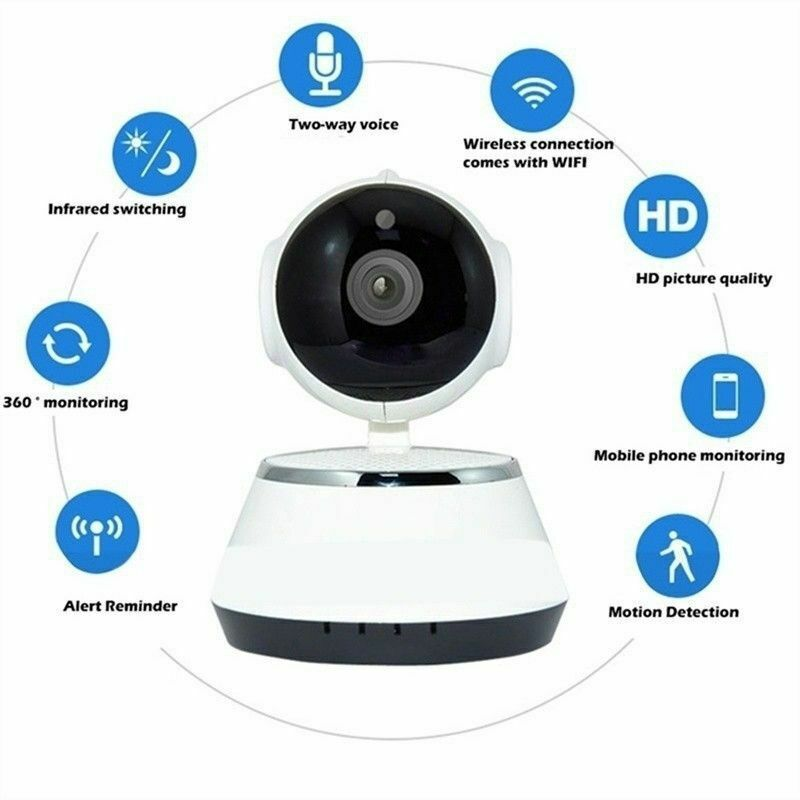 Wireless 720P Pan Baby Pet Monitor Network Security IP Camer