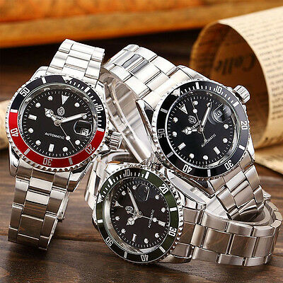 $12.99 - SEWOR Luxury Mens Date Analog Mechanical Automatic Stainless Steel Wrist Watch