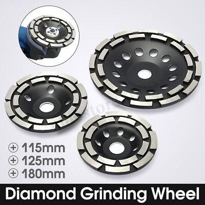 4.557 Diamond Grinding Disc Cup Wheel Double Row Stone Brick Concrete