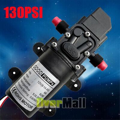 12v 70w 130psi High Pressure Diaphragm Self Priming Water Pump 6lmin For Wash