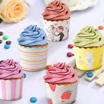 50x Kuchen Cupcake Wrapper Muffin Hüllen Papierförmchen Hochzeit Geburtstag Deko