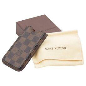 Louis Vuitton Iphone4 Damier leather case (authentic)
