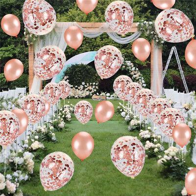 10 Stk Luftballons Geburtstag Party Dekor Hochzeit Folienballon Konfetti Ballons