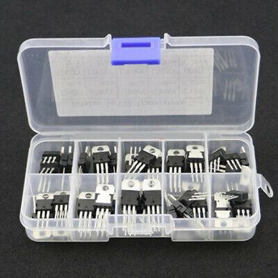 50pcs 10-value Voltage Regulators Transistors Assortment Kit Lm317t L7805 -l7824
