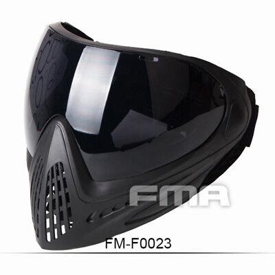 - FMA Anti-fog Goggle Paintball Full Face Mask Tactical F0023 Single Layer Mirror