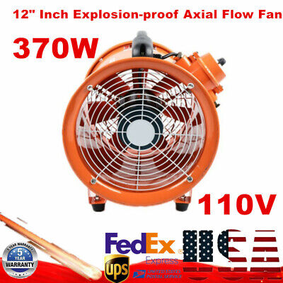 Atex Axial Fan Exhaust Flow Air 12 3720mh 69db Explosion Proof Fan 370w 110v