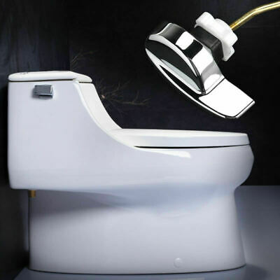 Angle Fitting Side Mount Toilet Lever Handle for TOTO Kohler Toilet Tank White