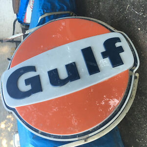 Wanted Large Light Up Gulf Sign Panel