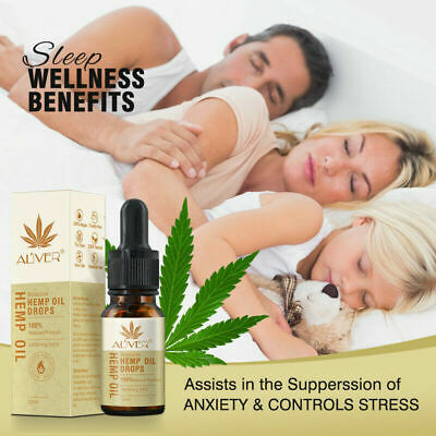 Essential Hemp Seed Oil Herbal Drops Stress Relieve Pain Relief Anti Anxiety