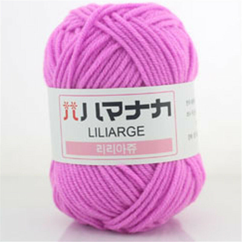 NEW 42 colors Soft Cotton Bamboo Crochet Knitting Yarn Baby Knit Wool 25g skeins