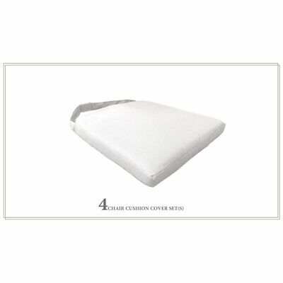 TK Classics 4 Cushions for Dining Chairs in Sail White