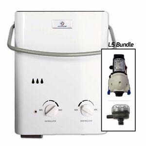 Eccotemp L5 Tankless Water Heater Bundle (12V pump & strainer)