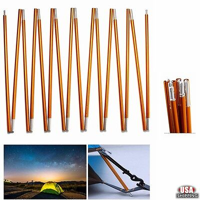 8.5mm/11mm Aluminum Alloy Spare Replacement Camping Tent Poles 10-16 Sections US