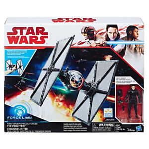 Tie Fighter et Force Link The Last Jedi + figurines 3.75'' -NEUF