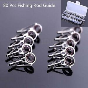 80pcs 10 sizes lure fishing rod guide tip top repair part for Fishing rod guide repair