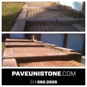PAVE_UNI STONE - PAVER CLEANING & SANDING -RE-LEVELLING West Island Greater Montréal image 7