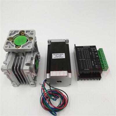 7.51 Worm Gear Hybrid Stepper Motor Nema23 1.1nm L56mm Driver Cnc Router Kit